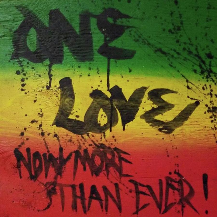 Jah Mixed Media - One Love, Now More Than Ever By by Eyeon Energetic