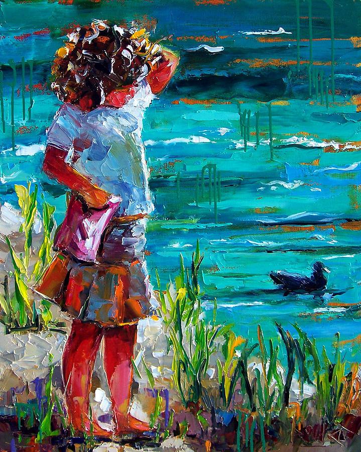 Children Painting - One Lucky Duck by Debra Hurd