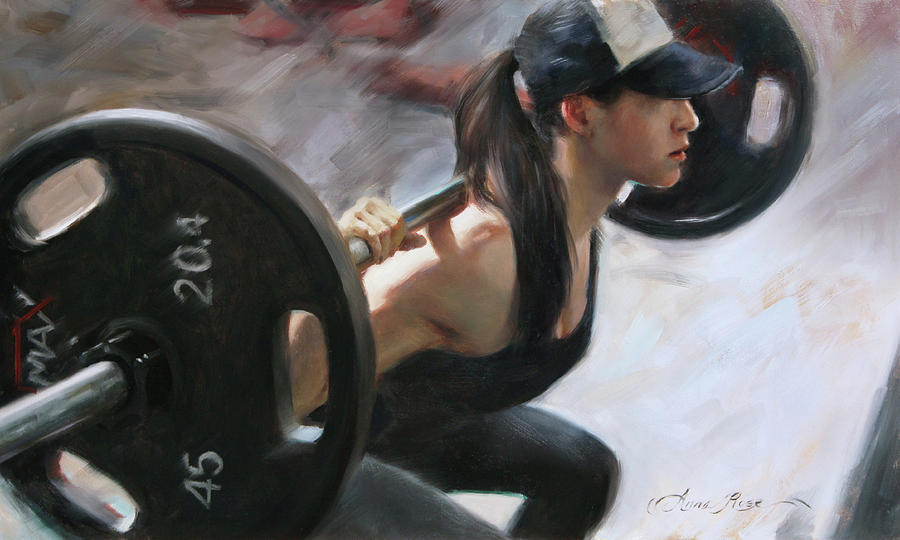 Fit Painting - One More Rep by Anna Rose Bain