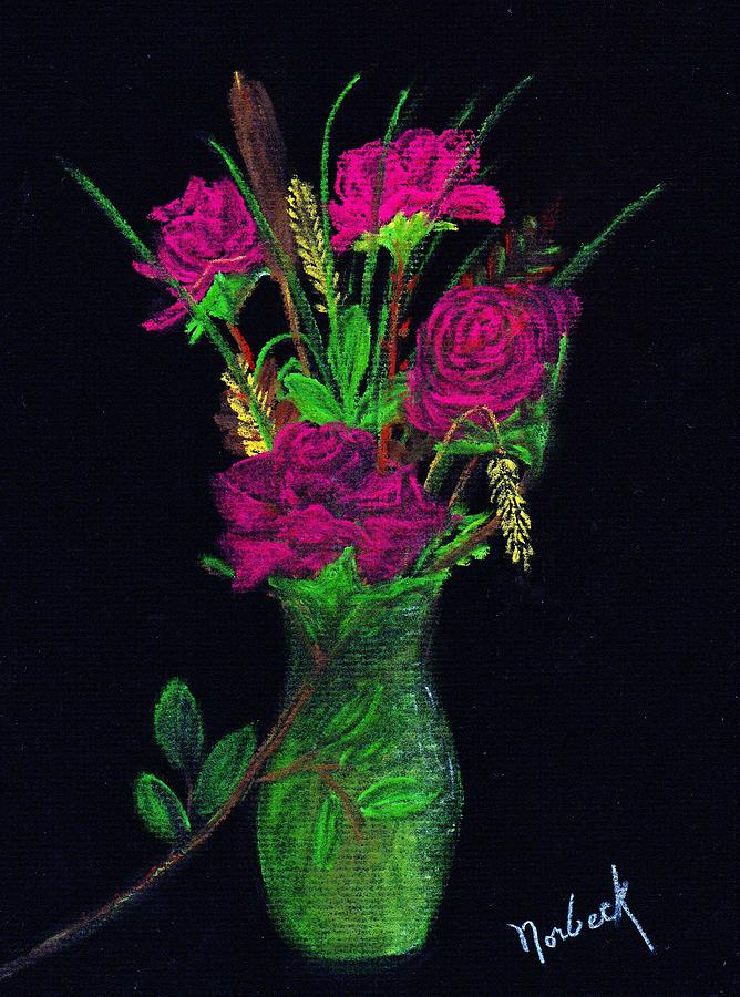 Pastel Painting - One More Rose by Thomas J Norbeck