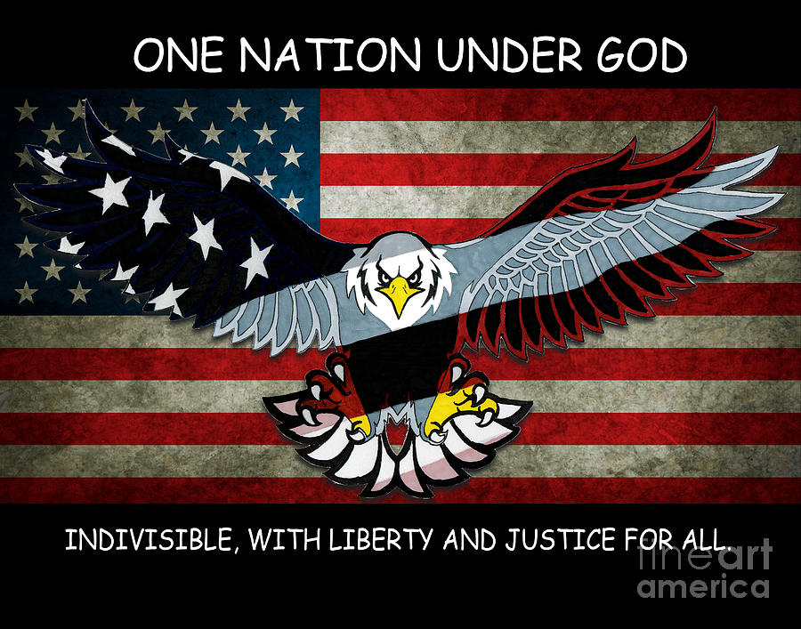 One Drawing - One Nation Under God by Bill Richards