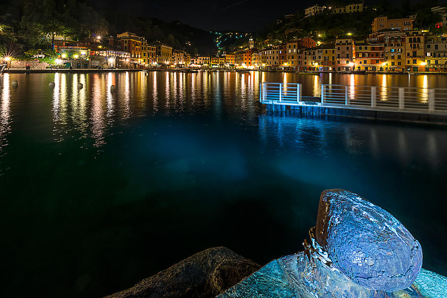 Portofino Photograph - One Night In Portofino - Una Notte A Portofino by Enrico Pelos