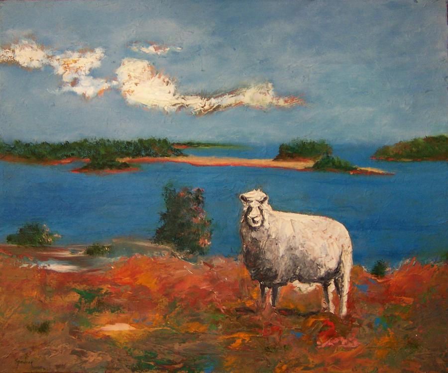 One Of His Sheep Painting by Scott Spencer