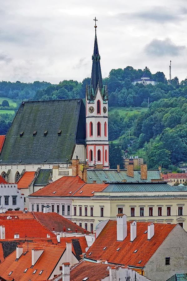 Cesky Krumlov Photograph - One Of The Churches In Cesky Kumlov In The Czech Republic by Richard Rosenshein