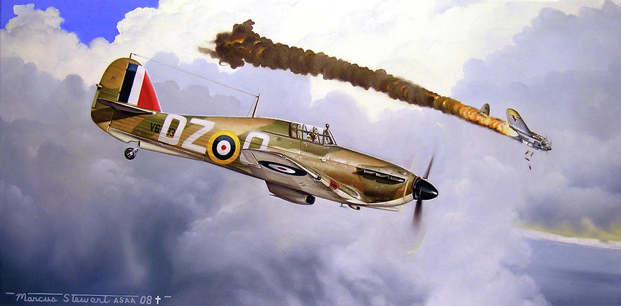 Aviation Painting - One of the Few by Marc Stewart