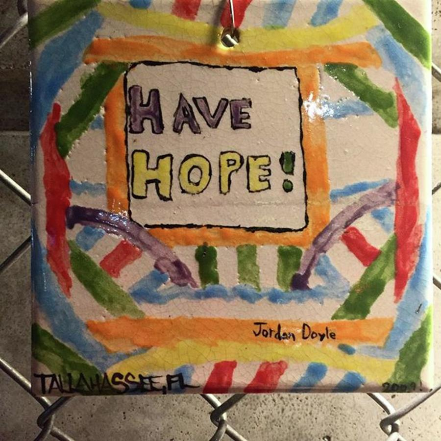 Hope Photograph - One Of The Many Tiles At Greenwich by Gina Callaghan