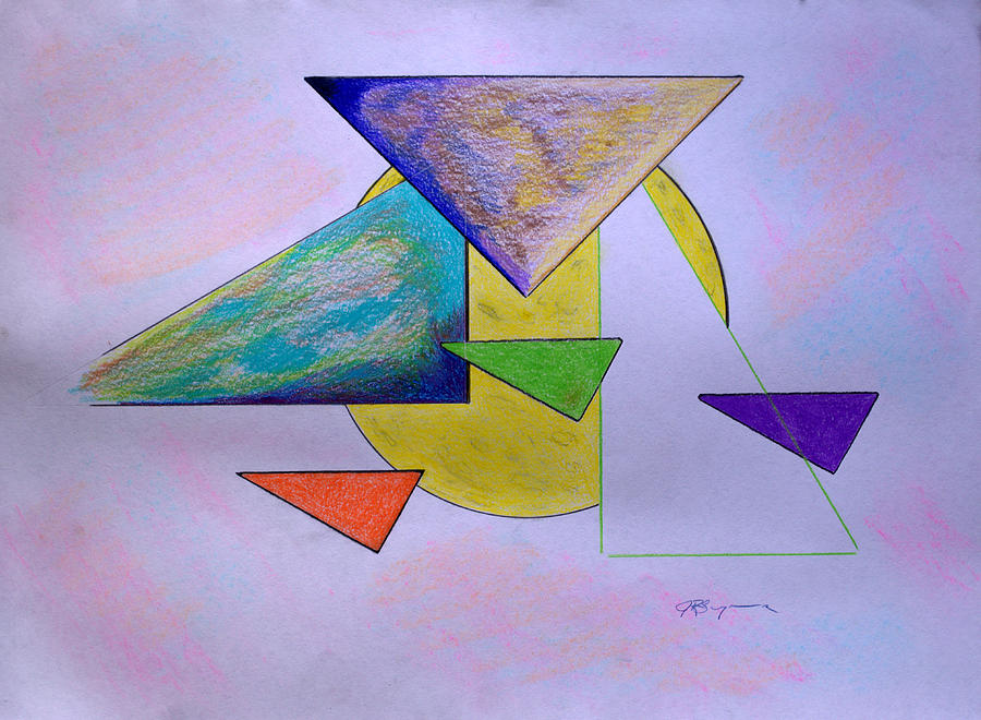 Abstract Drawing - One Over Two Under Three by J R Seymour