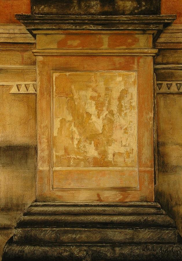 Mixed Media Painting - One Pillar ...of The The Lions Of Leon by Shirley McMahon
