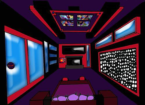 One Point Perspective Interior Design Drawing By Savana Smith
