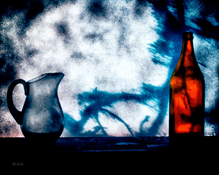 Still-life Photograph - One Red Bottle by Bob Orsillo