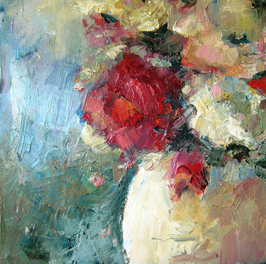 Flower Painting - One Red Rose by Sharleen Boaden