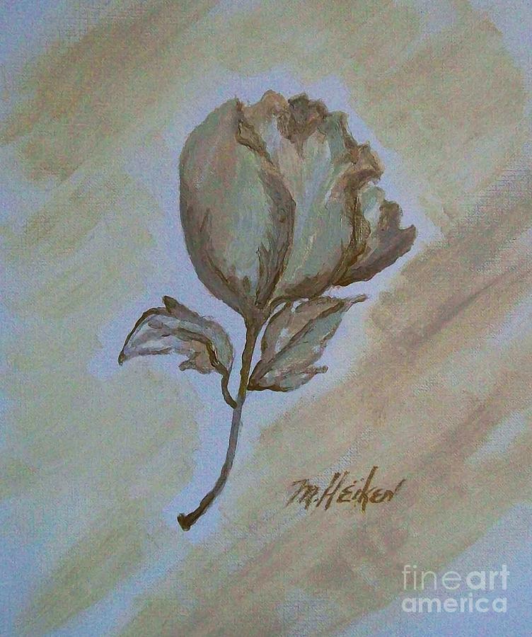 Rose Painting - One Rose by Marsha Heiken