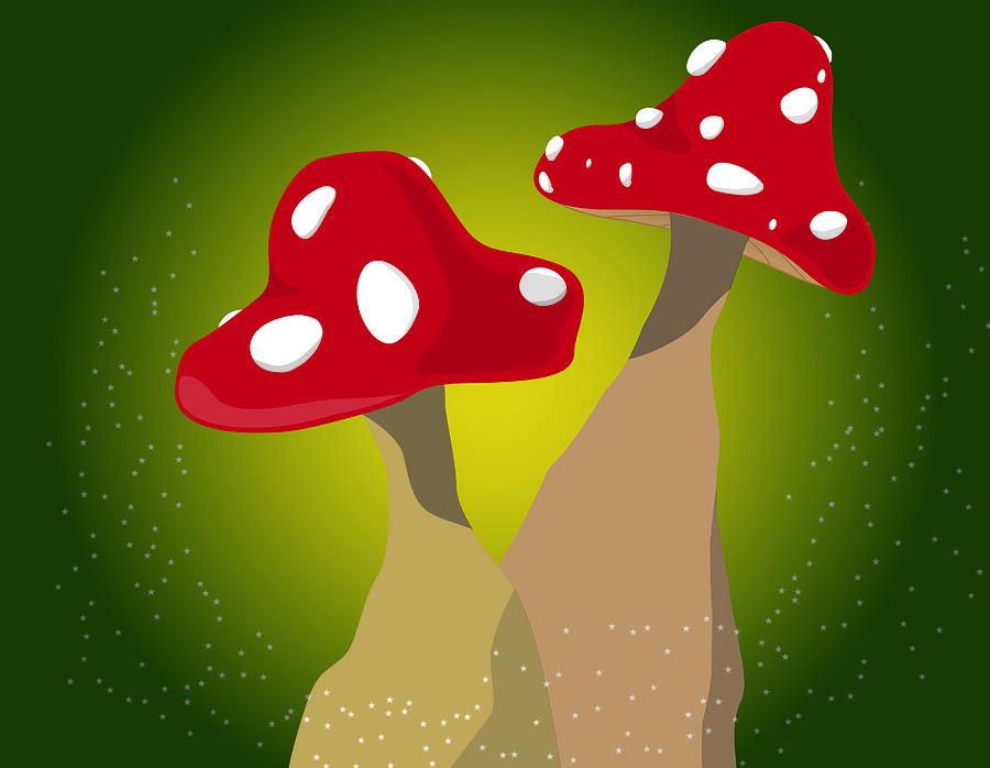 Mushroom Digital Art - One Side Makes You Taller... by Kori Jones