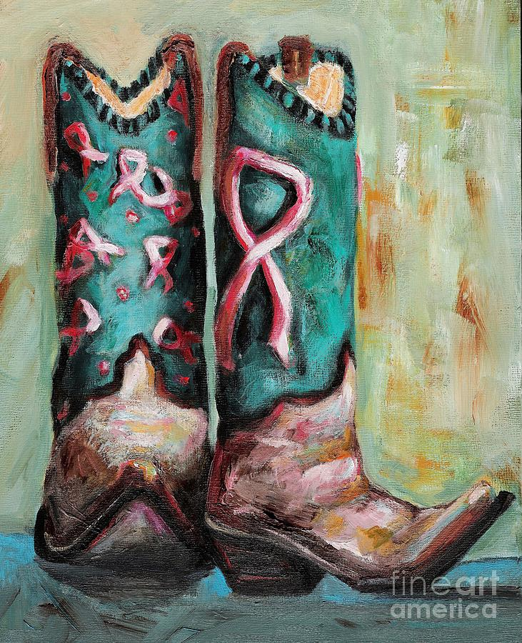 Boots Painting - One Size Fits All by Frances Marino
