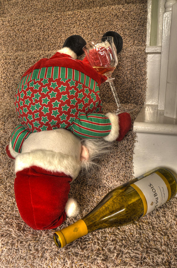 Santa Clause Photograph - One Too Many by Don Wolf