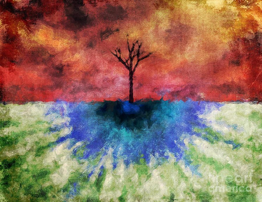 Nature Digital Art - One Tree by Phil Perkins