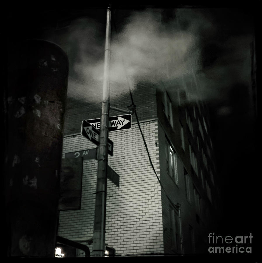 Street Photography Photograph - One Way Noir by Miriam Danar