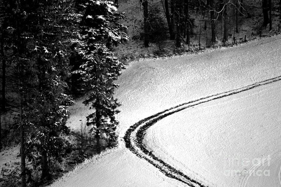 One Way - Winter In Switzerland Photograph