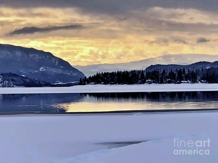 Lake Photograph - One Winter Day By The Lake 4 by Victor K