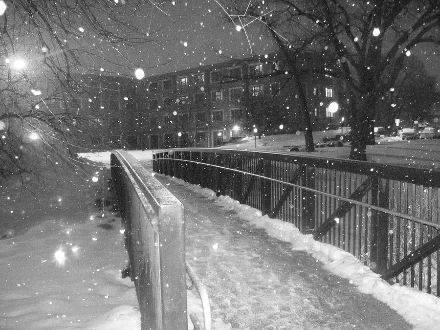 Photo Photograph - One Wintery Night by David Combs