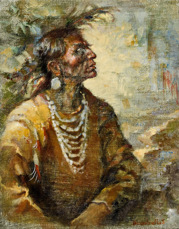 Native American Painting - One With The Earth by Ellen Dreibelbis