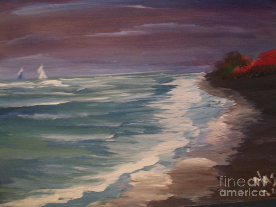 Water Painting - Oneth-by-sea by Teresa Nash