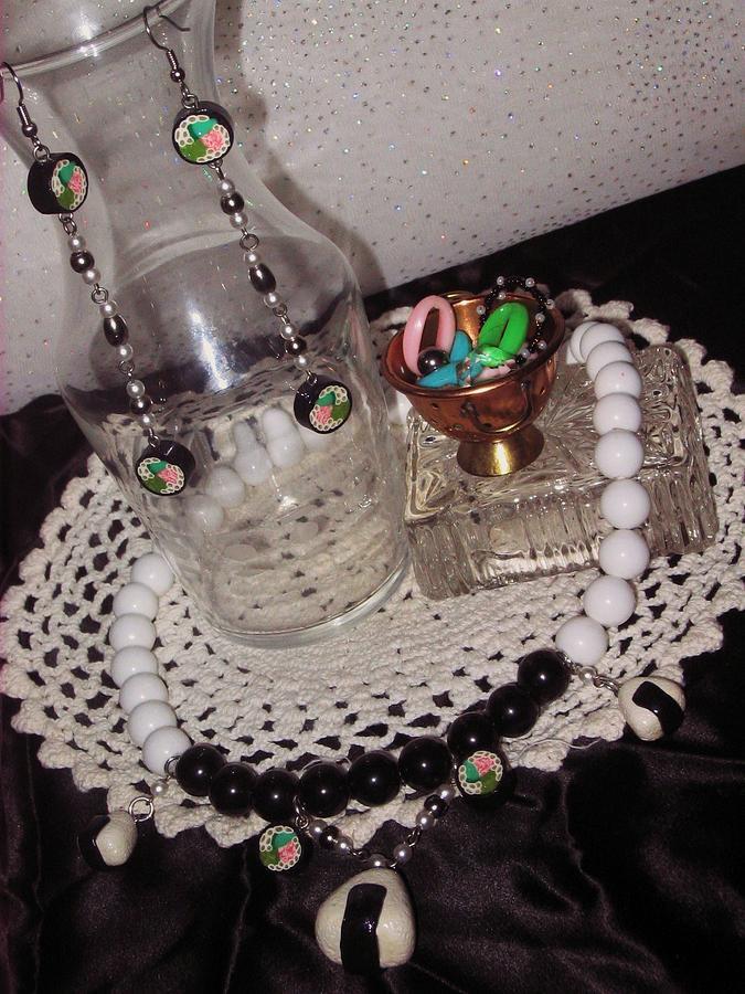 Handmade Jewelry - Onigiri And Sushi Necklace by Jamie Pool