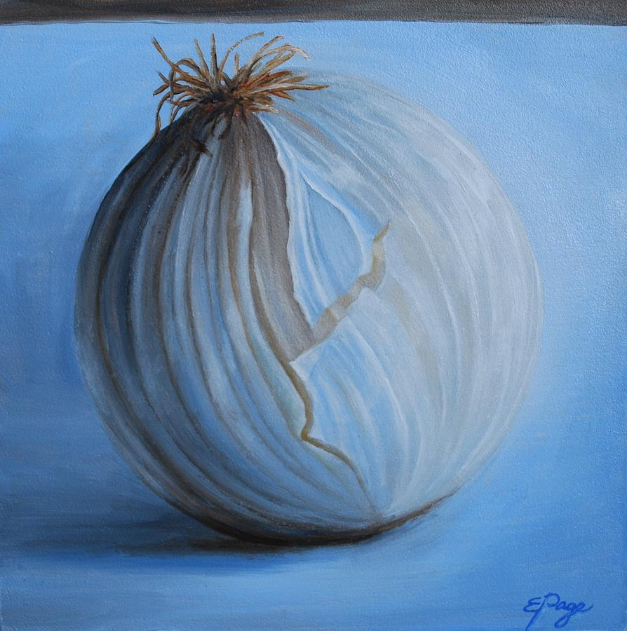 Realism Painting - Onion by Emily Page