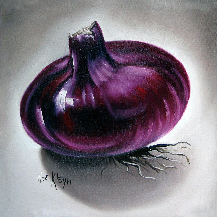 Kitchen Painting - Onion by Ilse Kleyn