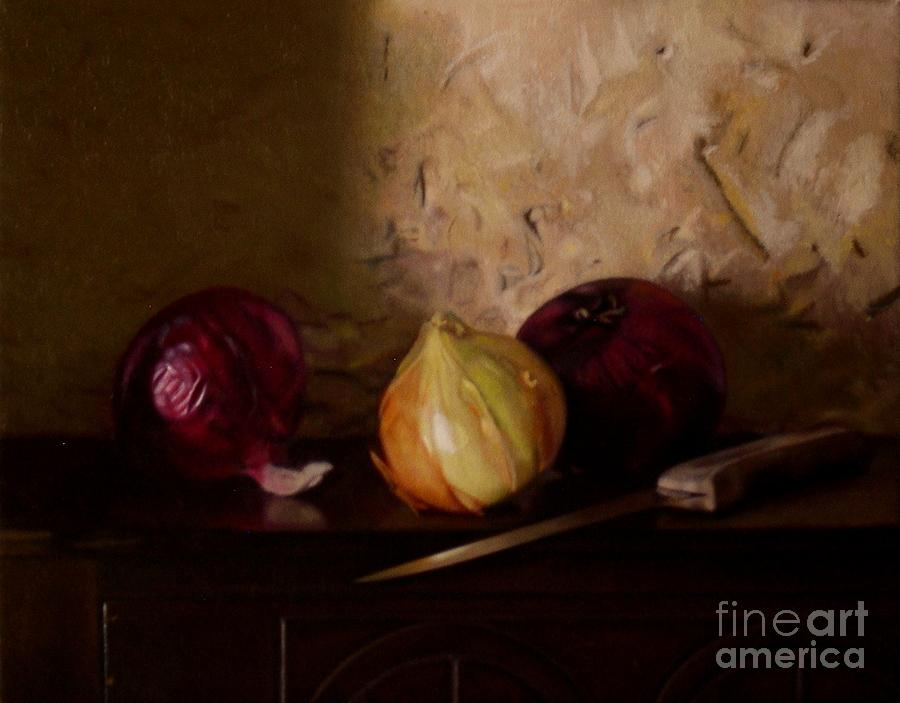 Still Life Painting - Onion Trio by Keith Murray