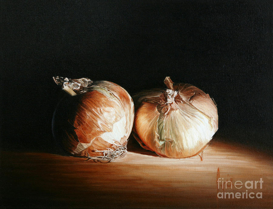 Still-life Painting - Onions by Barbara Ivie Green
