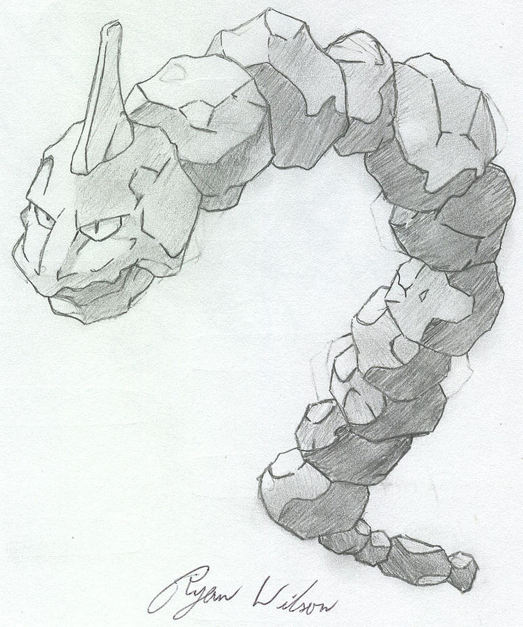 Pencil Sketch Drawing - Onix by Ryan Wilson