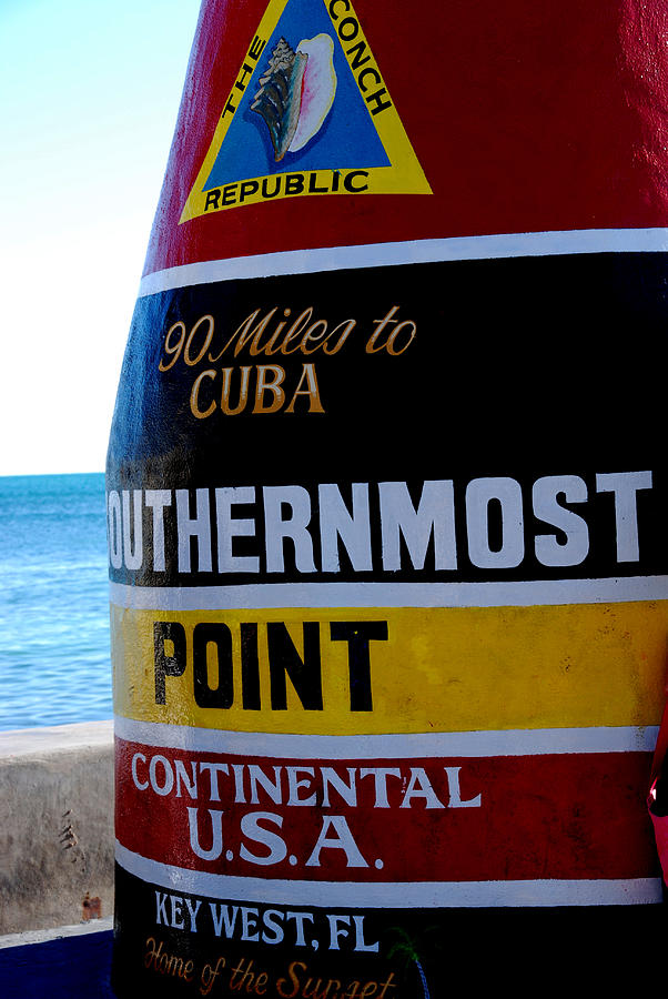 Landmark Photograph - Only 90 Miles To Cuba by Susanne Van Hulst