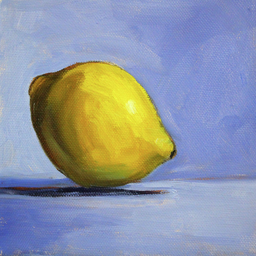 Oil Painting Painting - Only A Lemon by Nancy Merkle