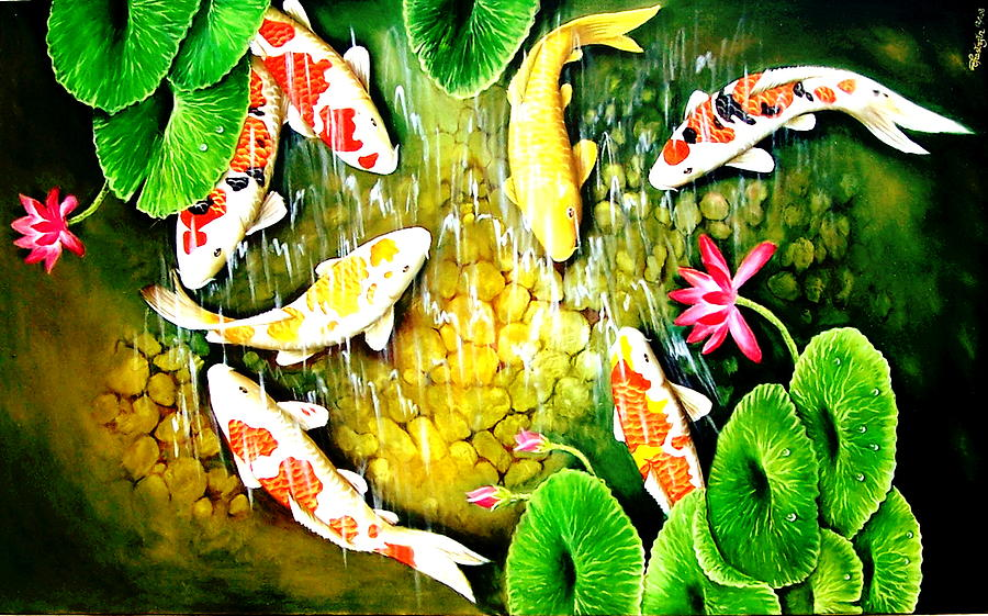 Fish Painting - Only After The Last Fish Has Been Caugh  by Yuki Othsuka