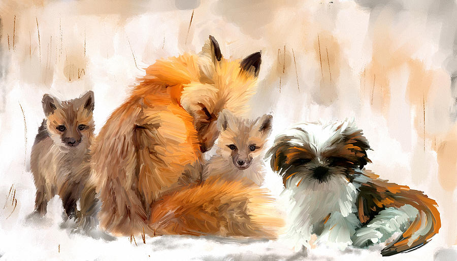 Fox Digital Art - Only The Very Best by Richard Okun