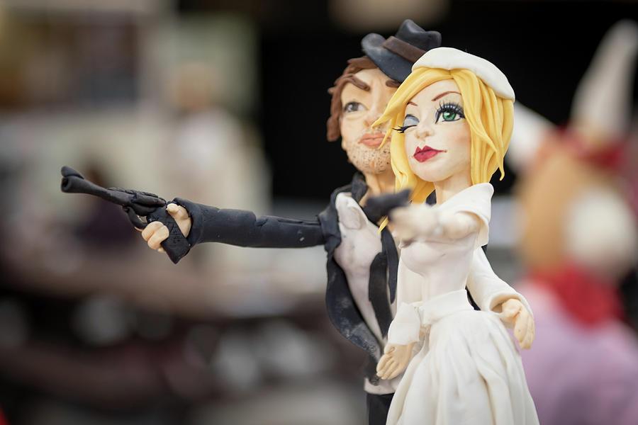Bonnie And Clyde Wedding Couple Photograph By Monika Tymanowska