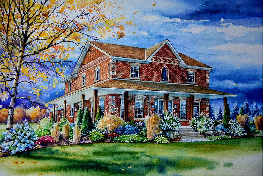 Ontario House Portrait Painting
