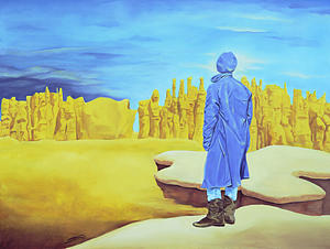 Surreal Landscape Painting - Oobliett...a Place Of Forgottoness by Sandi Snead