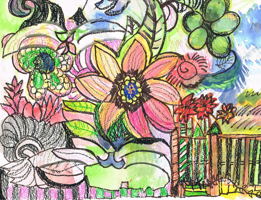 Doodles Mixed Media - Oodles Of Doodles by Anne-Elizabeth Whiteway