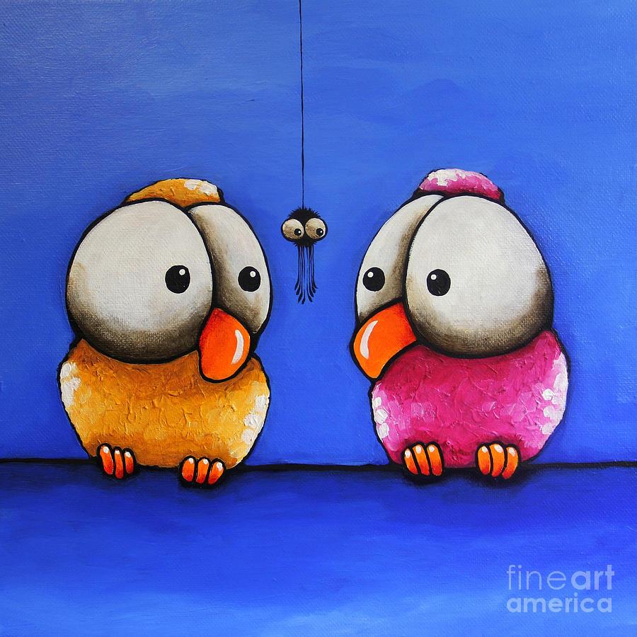 Смешные нарисованные птички картинки