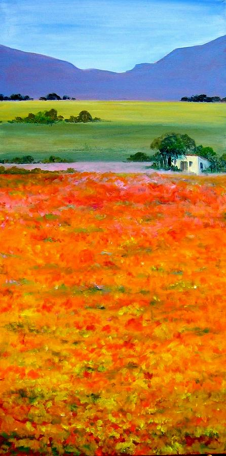 Landscape Painting - Oopsa Daisy by Liz McQueen