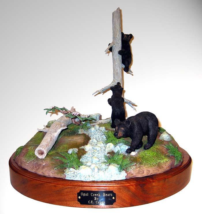 Sculpture Sculpture - Opal Creek Bears by Carl Capps
