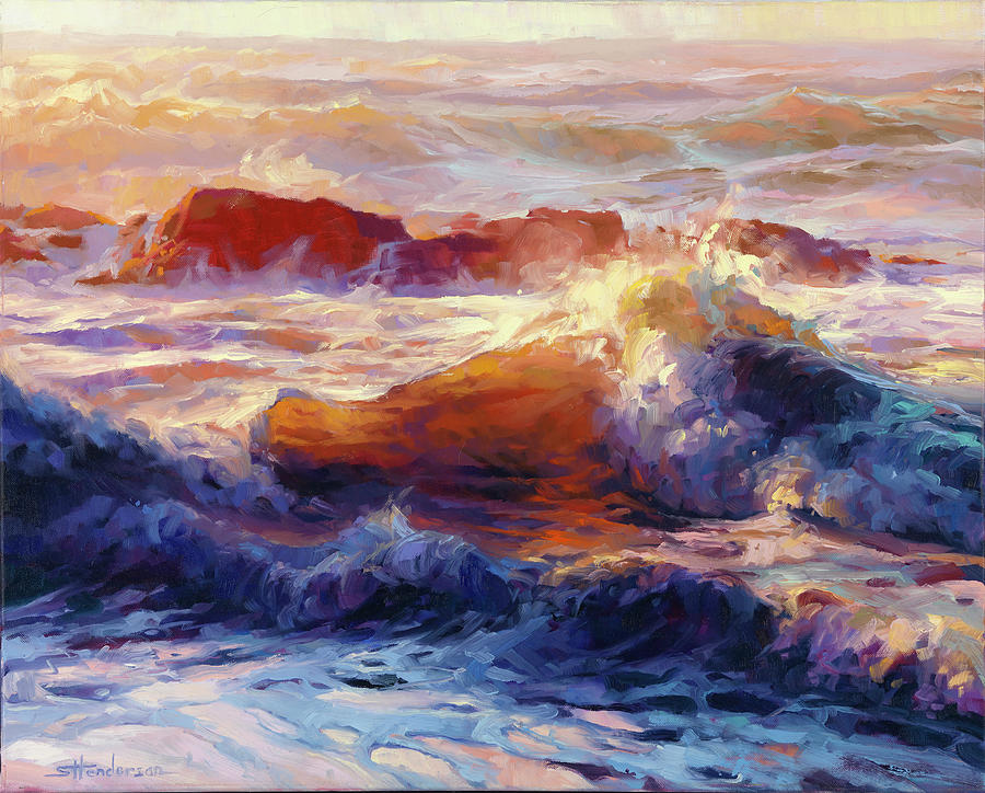 Ocean Painting - Opalescent Sea by Steve Henderson