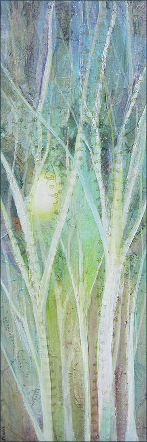 Trees Painting - Opalescent Twilight I by Shadia Derbyshire