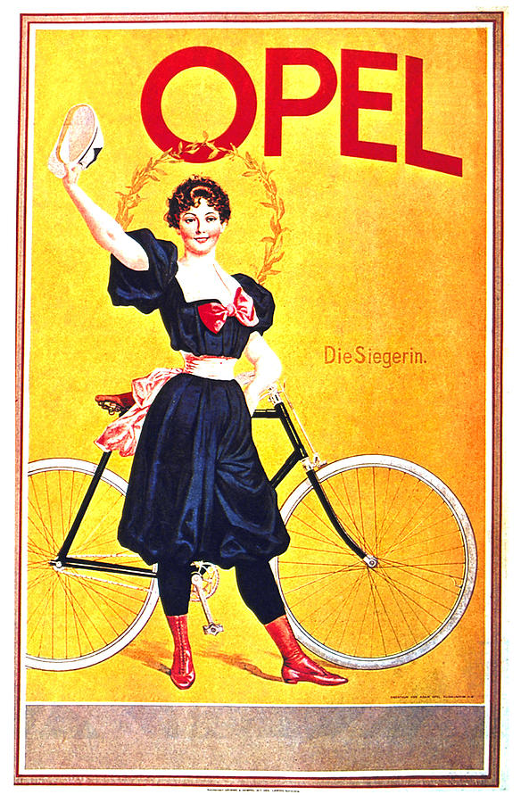 Opel Cycles - Bicycle - Vintage Advertising Poster Mixed Media