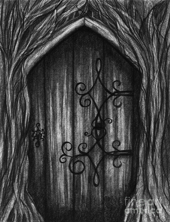 Door Drawing - Open A New Door by J Ferwerda