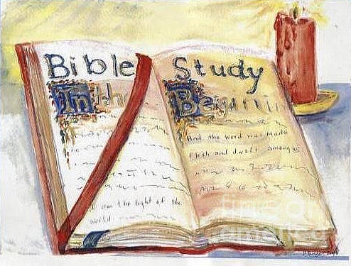 Open Bible Painting by Patricia Ducher