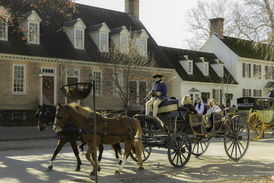 Colonial Williamsburg Photograph - Open Carriage Ride In Colonial Williamsburg Virginia by Teresa Mucha
