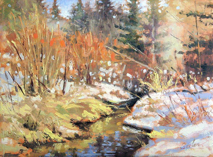 Landscape Painting - Open Creek by Larry Seiler